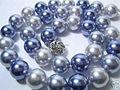 Скидки! 12 мм Многоцветный стекла жемчужное ожерелье 18 дюймов ПОДЕЛКИ ручной работы женщины ювелирных изделий бесплатная доставка