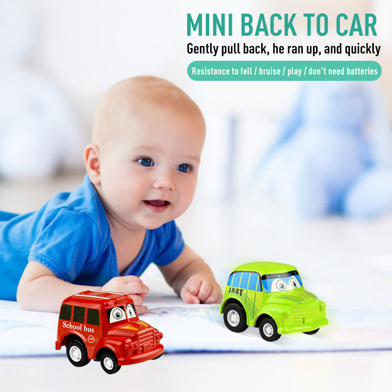 2019 New 6pcs/set Classic Boy Girl Candy Color Truck Vehicle Kids Child Toy Mini Small Pull Back Car Kid Chilren Gift