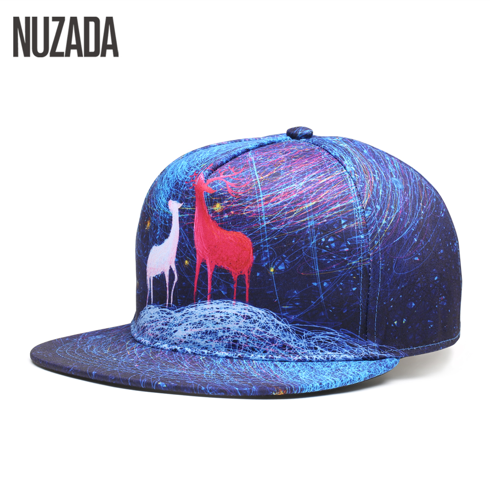 Brand NUZADA Snapback Exclusive Sales Quality Women Men Baseball Caps 5 Colos Printing Hip Hop Hats Bone Fashion Pattern Cap new high quality warm winter baseball cap men brand snapback black solid bone baseball mens winter hats ear flaps free sipping