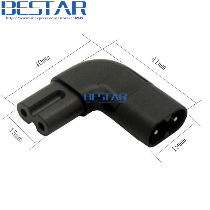 Figure 8 IEC 320 IEC320 iec C7 to C8 90 Degree Left & Right Angled AC Power Adapter Male Female Extension connector connector plug 90 degree left right up down usb male to female angled l shaped adaptors usb extension adapter