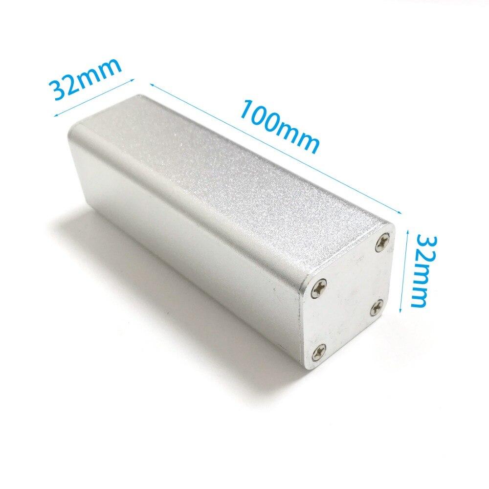 Paduan Aluminium Shell Listrik Kandang Proyek Untuk Daya Baterai Refil Bak Plastik Besi Kecil Diy 3232100mm