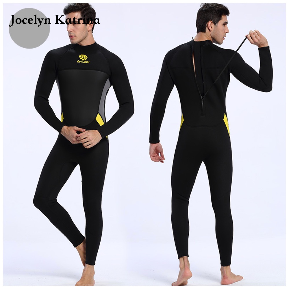 3mm Warm Keep Neoprene Wetsuits Black full Body Scuba Diving and Surfing Wetsuits Nylon outside Terry Fabric inside Wetsuits
