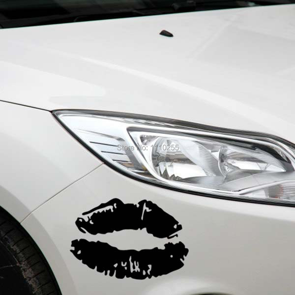 Car parking stickers design india - Newest Design Funny Sexy Lips Car Stickers Decal For Toyota Ford Chevrolet Volkswagen Tesla Honda Hyundai