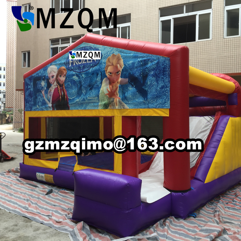 Factory direct Inflatable castle. Castle combination slide. Inflatable trampoline size 6.3X5X4m new inflatable slide wave slide slide ocean hx 886