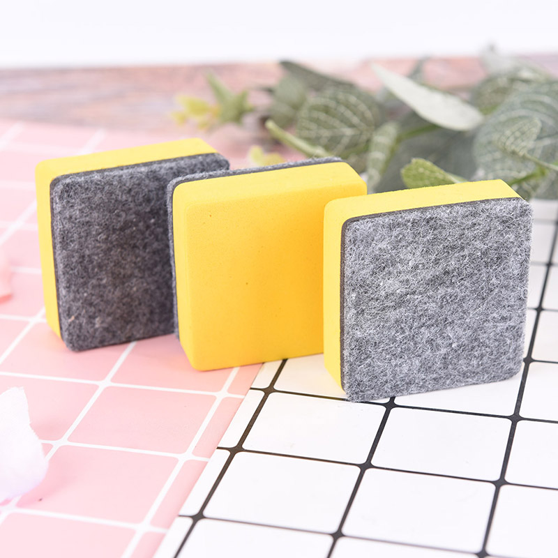 2pc/set Magnetic Blackboard Eraser Whiteboard Erasers Dry Erase Marker White Board Cleaner School Office Supplies image