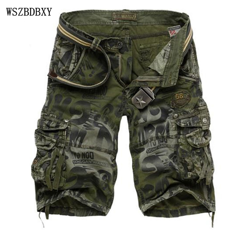 Shorts 2017 Mens Bermuda Short Camouflage Printing Men Homme Multi Pocket Cargo Shorts Casual Loose