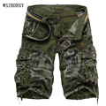 Shorts 2017 Mens Bermuda  Short Camouflage Printing   Men Homme Multi-Pocket   Cargo Shorts Casual Loose