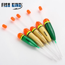 FISHKING 5PC/LOT 10G 15G 20G 30G  18CM 19CM 22.5CM Stick Floats Fluctuate Mix Size Color float buoy For Fishing Accessories