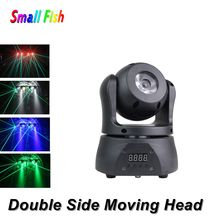 цена на Disco Light DMX RGBW LED Stage Light Double Side Moving Head Beam Party Light DMX 512 LED Light Christmas Decorations For Home