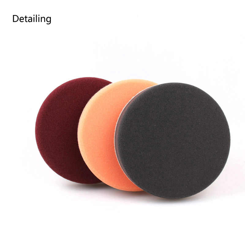 DETAILING 6 Inch/150mm Flat Foam Sponge Pad Polishing Buffing Pad For Car Polishing and Buffing - 3 colors Maroon, Orange, Black