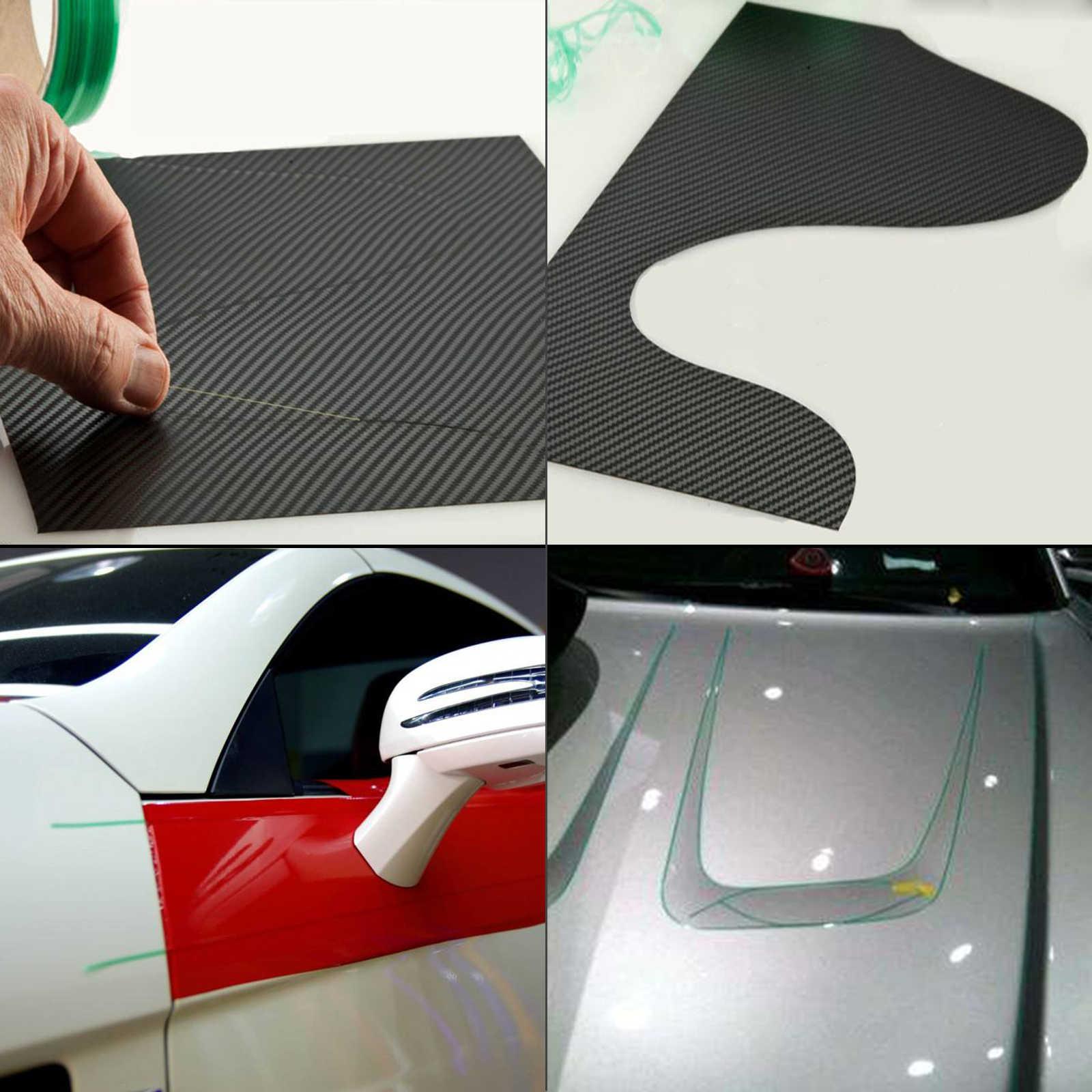Pegatinas FOSHIO para coche, Kit de herramientas de estilismo, cinta de diseño sin cuchillo de 5/50M + envoltura de vinilo, escurridor, cinta de corte, accesorios para automóviles