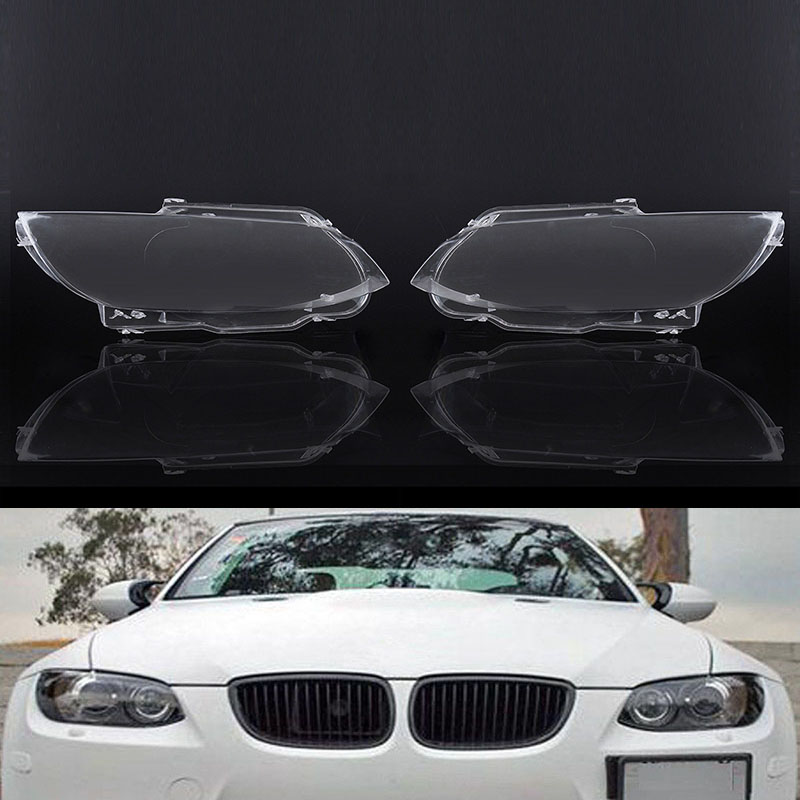 One Pair Transparent Headlight Headlamp Lens Replacement Cover Fit For BMW E92 E93 Coupe M3 328i 335i Car Lights Headlight Lamp