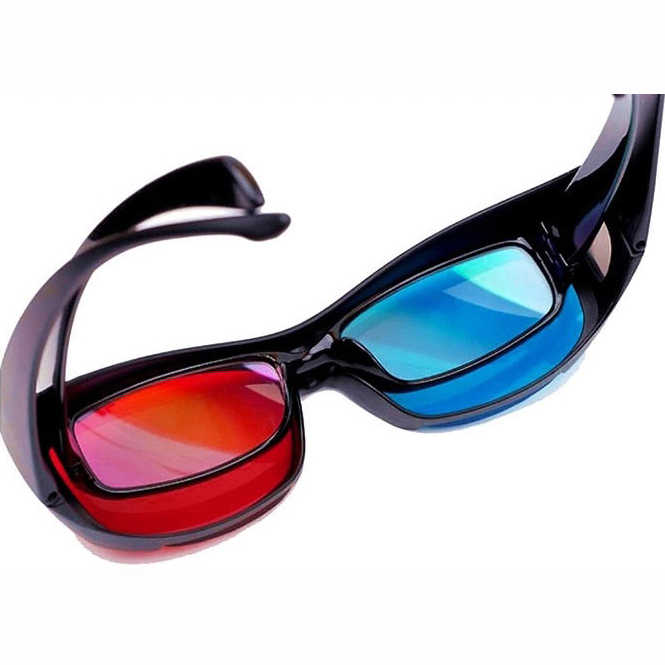 b8f2d7bffc ... 2PCS Red-blue   Cyan Anaglyph Simple Style 3d Glasses 3d Movie Game- extra ...