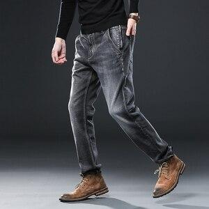 Image 3 - Irmão wang roupas masculinas anti roubo zíper jeans 2020 nova moda casual em linha reta algodão elástico tamanho grande marca masculina jean
