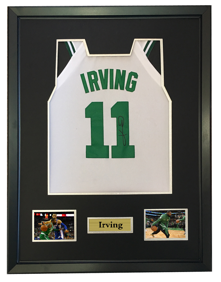 808ce12e5b3a Detail Feedback Questions about Kyrie Irving signed autographed basketball  shirt jersey come with Sa coa framed Celtics on Aliexpress.com