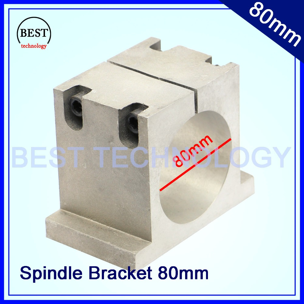 New Product! Diameter 80mm cast aluminium bracket of cnc spindle motor for engraving milling machine spindle clamp cnc spindle cnc spindle mount bracket clamp bracket motor inner diameter 80mm spindle motor clamp fitted seat with 3pcs screw 80 mm brackets