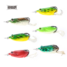 Kingdom Soft Plastic Fishing lures Frog lure With Hook Top Water 60mm 14g model lwb98