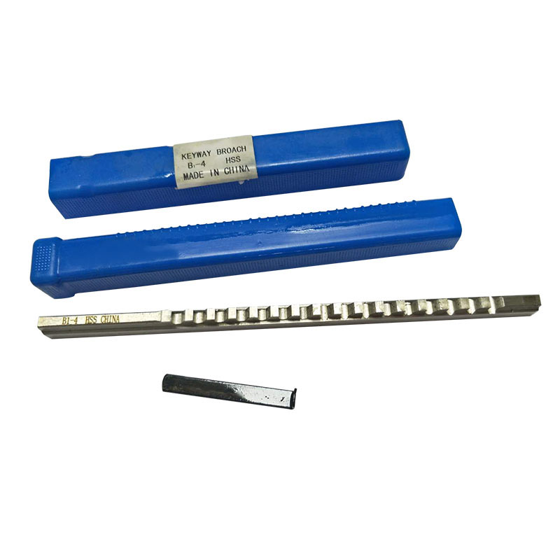 HSS Keyway Broach 4mm B1 Push-Type Keyway Broach Metric Sized with Shim High Speed Steel Cutting Tool knife for CNC Machine