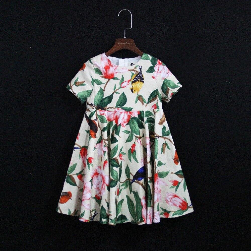 Été enfants fleur fille robe famille look maman et moi jupes assorties mère fille mode robe enfants bébé filles vêtements