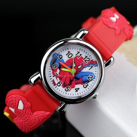 Spiderman Kids Watches Children 3D Rubber Strap Cartoon Quartz Wristwatch Gift for Boys Clock Montre Enfant Reloj Infantil Islamabad
