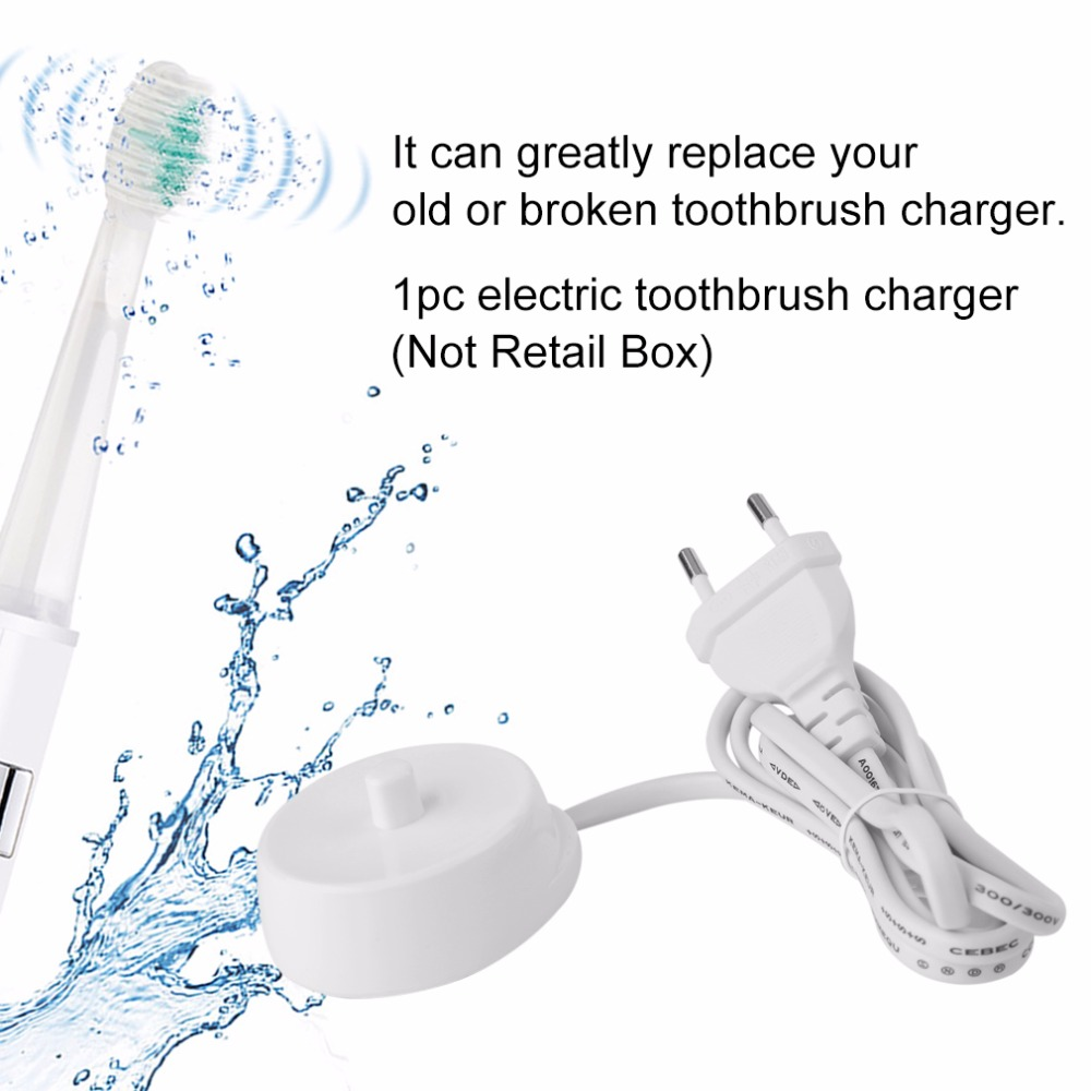 EU Plug Replacement Electric Toothbrush Charger Model 3757 Suitable For Braun Oral-b D17 OC18 Toothbrush Charging Cradle