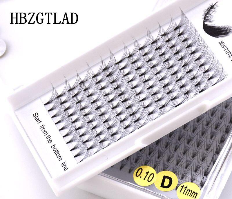 Nouvelle Extension de cils de Volume russe 3D/4D/5D/6D/10D tige courte ventilateurs pré-fabriqués C/D curl vison cils Extensions individuelles