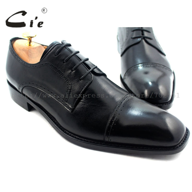cie Free shipping Adhesive craft custom handmade pure genuine calf leather outsole men's dress derby color black shoe No.D60 cie free shipping round toe adhesive craft handmade tassel slip on casual calfskin blue purple leather men s shoe no loafer 53