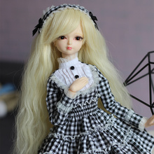 Fortune Days for 1/4 BJD Doll 45cm Highly Cute tartan princess dress with tiara High Quality Blyth reborn girls Toy Gifts