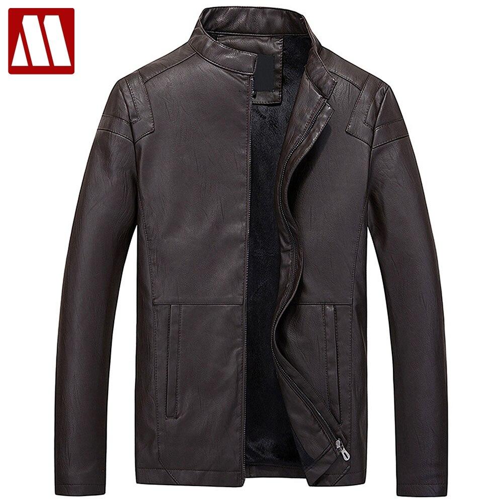 2018 новые осенние Повседневное Кожаные куртки мужские из искусственной кожи куртка с длинным рукавом на молнии, воротник стойка верхняя оде...