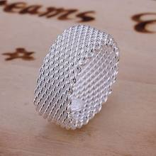 c1920b4fdfd9 Envío Gratis joyería 925 anillo Chapado en plata anillo de red de moda fina  mujeres y hombres regalo joyería de plata anillos de.