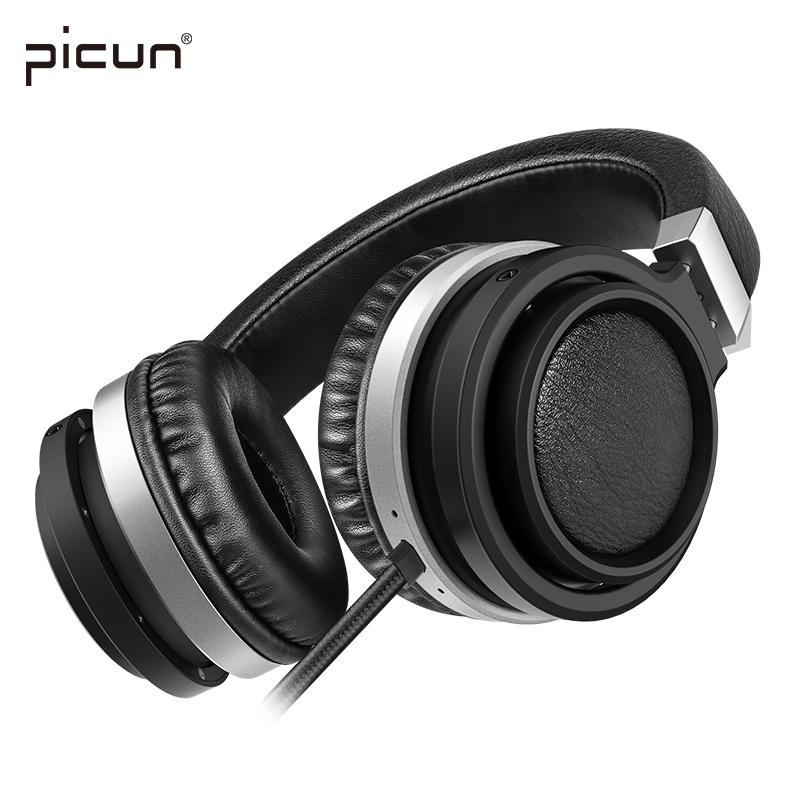 все цены на Picun C9 Big Earmuffs Wired Headphones Gaming Stereo Low Bass Headsets with Microphone and Volume Control for PC Video Phone онлайн