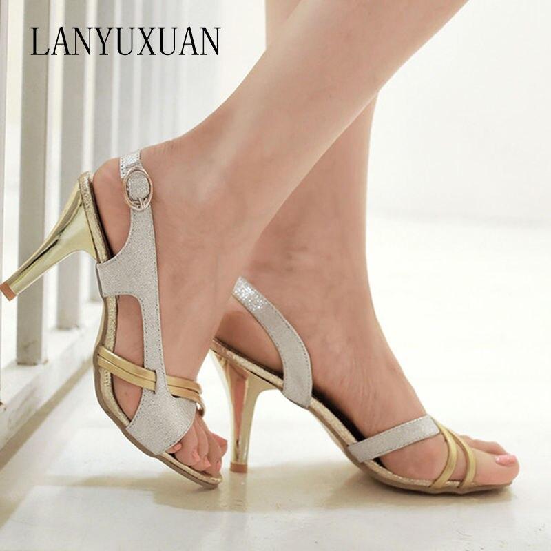 2017 Limited Sapato Feminino Gladiator Sandals Women Plus Big Size 34- 43 Sandals Ladies Lady Shoes High Heel Women Pumps 5111