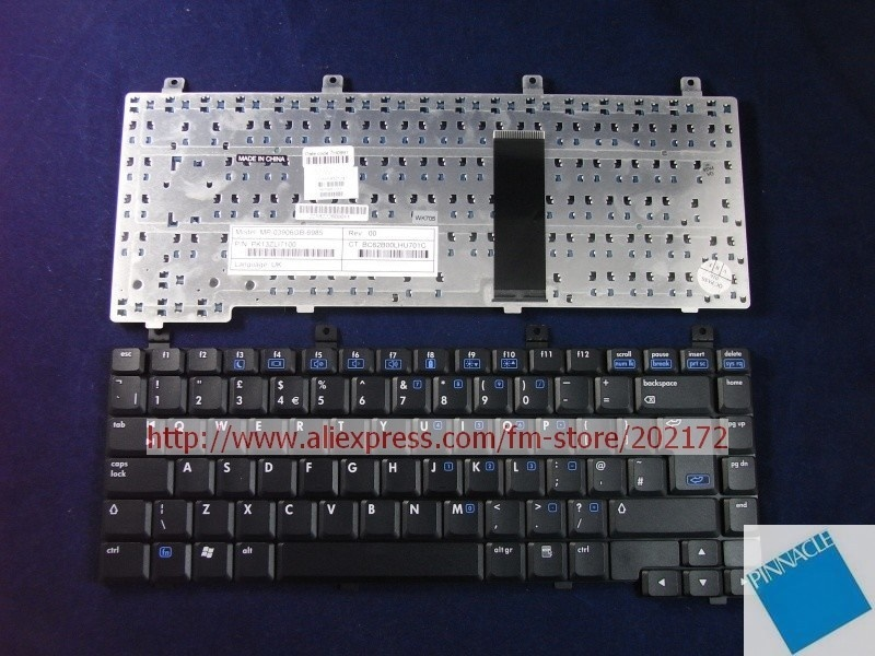 Brand New Black Laptop  Notebook Keyboard 393568-031 PK13ZLI7100  For HP Compaq  nx6115   nx6125 series (United Kingdom)