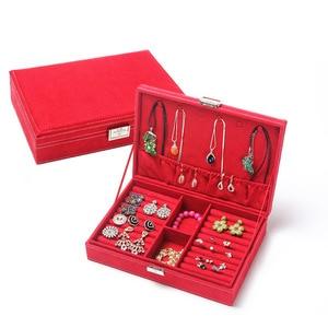 Image 2 - Guanya Hot Sell High grade Velvet Jewelry Box, Studs Earrings Ring Storage Case,New Style Women Wedding Graduation Birthday Gift