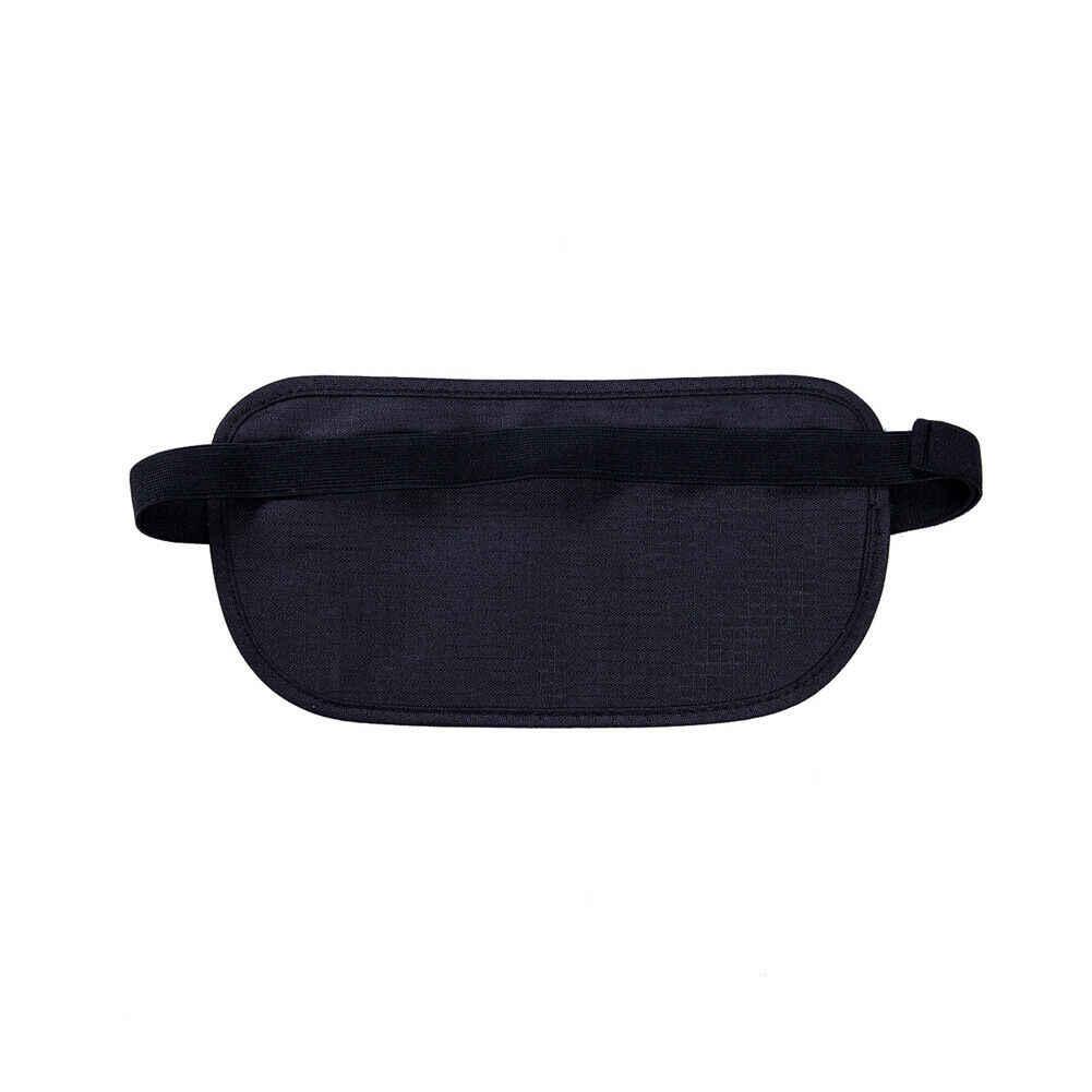 Nuevo 2019 hombre mujer viaje Negro Bolsa de la cintura bolsa para pasaporte dinero cinturón bolsa Unisex de seguridad oculta riñonera bolso estilo caliente