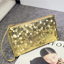 Stone Pattern Sequined Lady Card 2018 New Ladies Zipper Glitter Sparkle Bag Purse Evening Party Envelope Bag 6 Colors