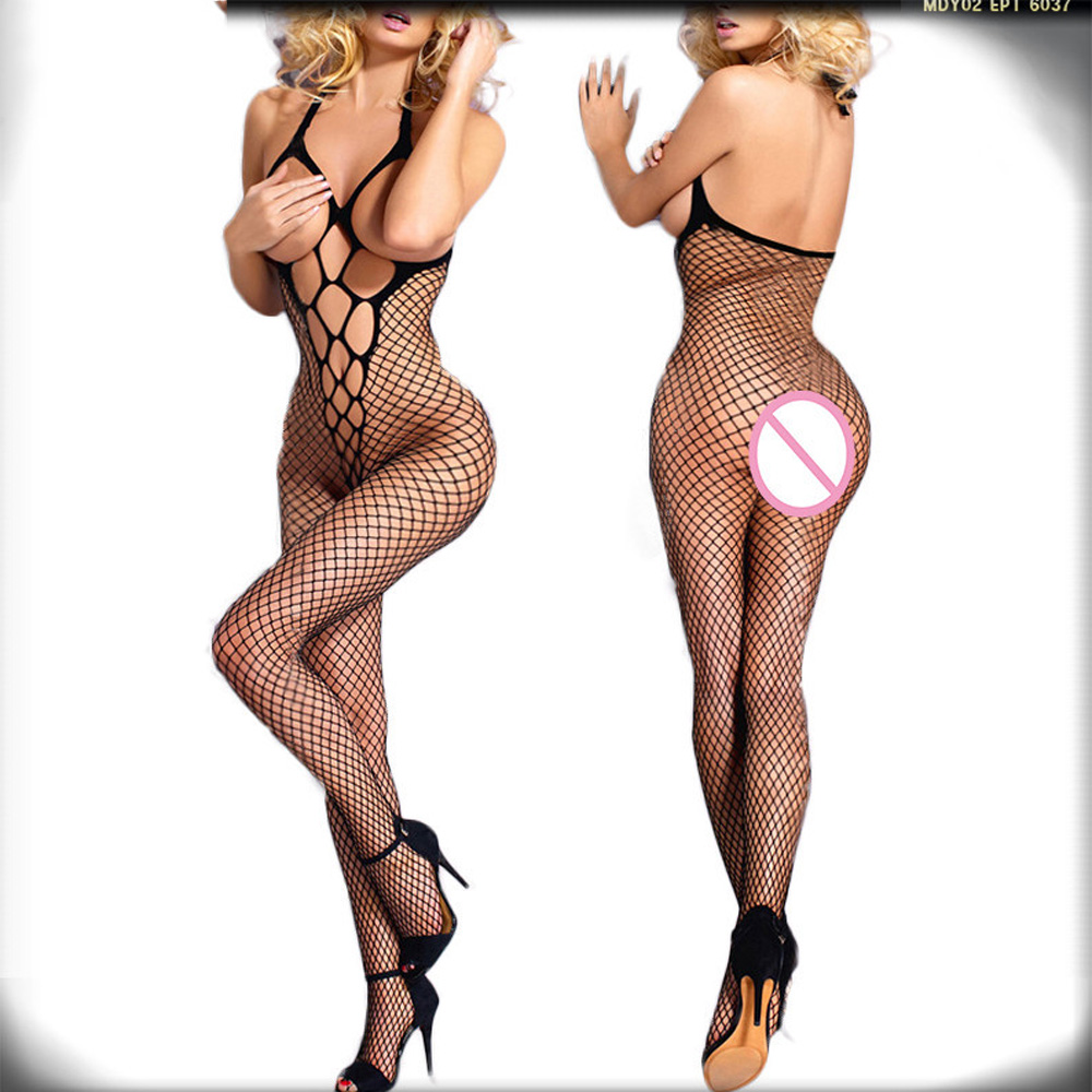 Sexy Lingerie hot Style Bodysuit Net Sexy Costumes Intimate Women Bodystocking Open Crotch font b Sex