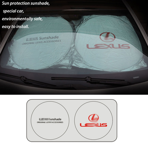 Image 3 - best quality UV Protection Car for Lexus 150*70cm Front Rear Window Foil Film Windshield Visor Cover Car Sunshade Accessories