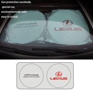 Image 3 - 最高品質の uv 保護車レクサス 150*70 センチメートルフロントリアウィンドウ箔フィルムフロントバイザーカバー車サンシェードアクセサリー