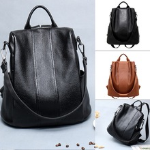 Women Backpacks Anti-theft PU Leather Backpack