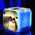 2016 new toys & hobbies The Jungle Book ledclock 7 color change digital kids classic toys hot movie action figure