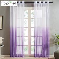 Topfinel well sale cortinas de color semi-degradado para sala de estar dormitorio cocina moderna ventana transparente tul decoración para el hogar Cortina para sala de estar