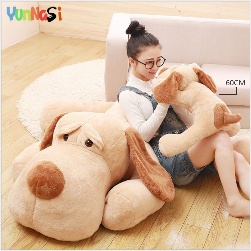 YunNasi 60cm Plush Dog Toys Squishy Kawaii Stuffed Animals Puppy Cute Soft Pillow Birthday Gift For Girls Kid Toys Children hot sale cute dolls 60cm oblong animals pillow panda stuffed nanoparticle elephant plush toys rabbit cushion birthday gift