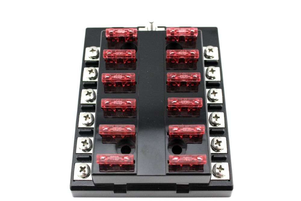 Moto Home 12 Way Blade Fuse Box Bus Bar Kit Car Boat Marine FuseBox Holder 12V fuse box busbar for kayak diagram wiring diagrams for diy car Marine Fuse Terminal Block at panicattacktreatment.co