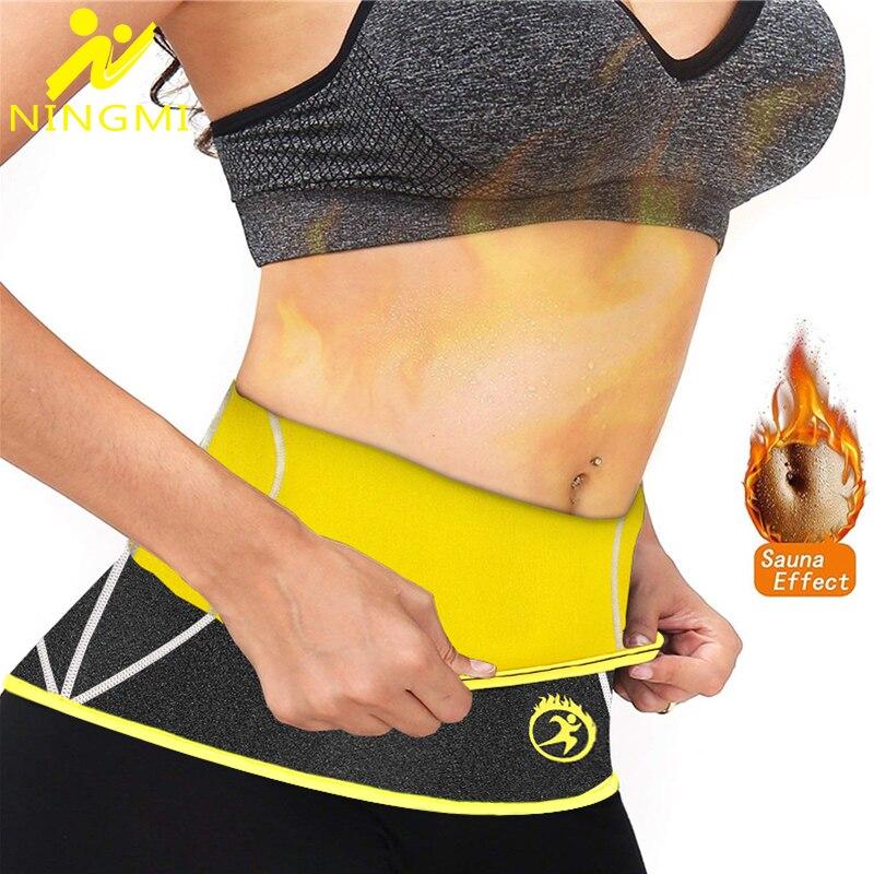 NINGMI Neoprene Sauna Body Shaper Waist Trainer for Women Tummy Trimmer Modeling Strap Cincher Shaper Waist Belt Slimming Girdle in Waist Cinchers from Underwear Sleepwears