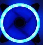 12 моделей многоцветный RGB чехол с круговым охлаждением 2 кольца cpu светодиодный вентилятор 120 мм 12 см RGB светодиодный ring для компьютера кулер для воды радиатор - Цвет лезвия: Blue led