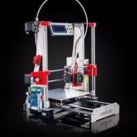 Full Metal Reprap Prusa I3 3d Printer DIY Kit Stainless Steel Easy Installation 2 Roll Filament