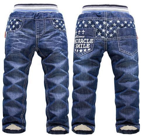 2017 new arrival warm thick winter pants for Boys KK-Rabbit brand children boy jeans big boys jeans retail