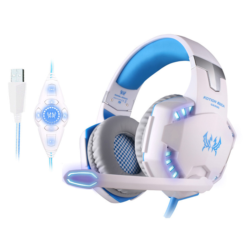 Newest Bluedio Bluetooth G2200 Vibration Headphones with MIC Spor 3D Surround Sound Stereo Gaming Headset Anti-noise LED each g8200 gaming headphone 7 1 surround usb vibration game headset headband earphone with mic led light for fone pc gamer ps4