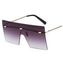 2018 High Quality  Fashion Cool Square Shield Future Style Sunglasses